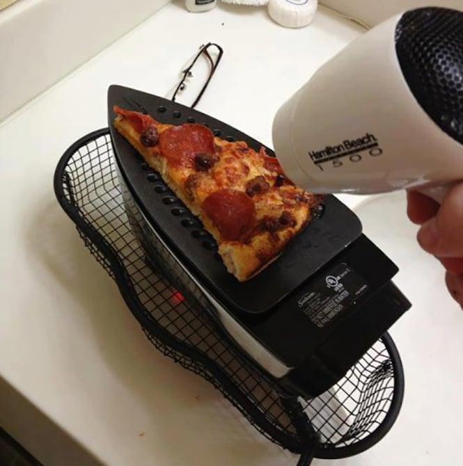 pizza calentar plancha