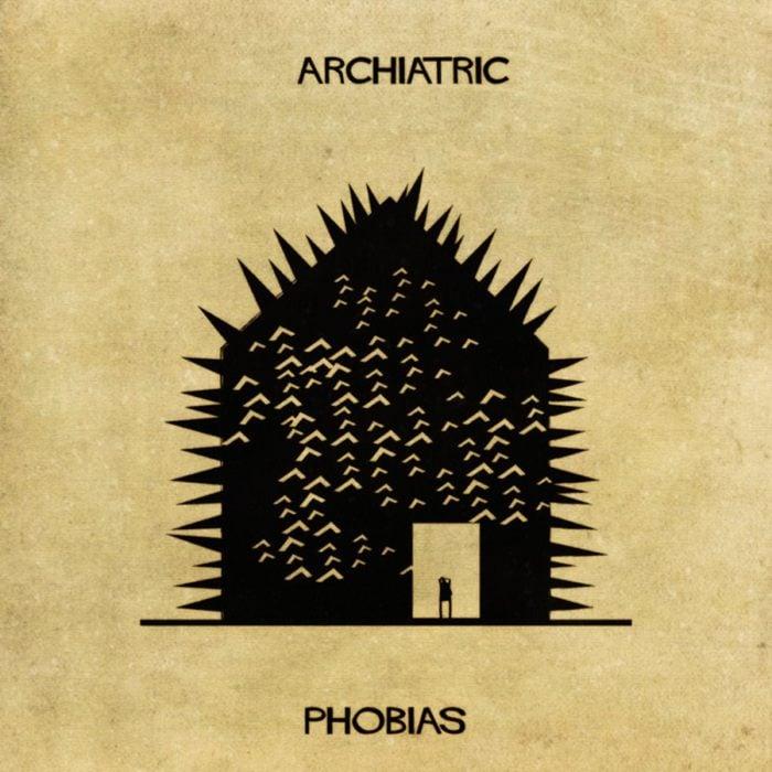 fobias representadas con una casa