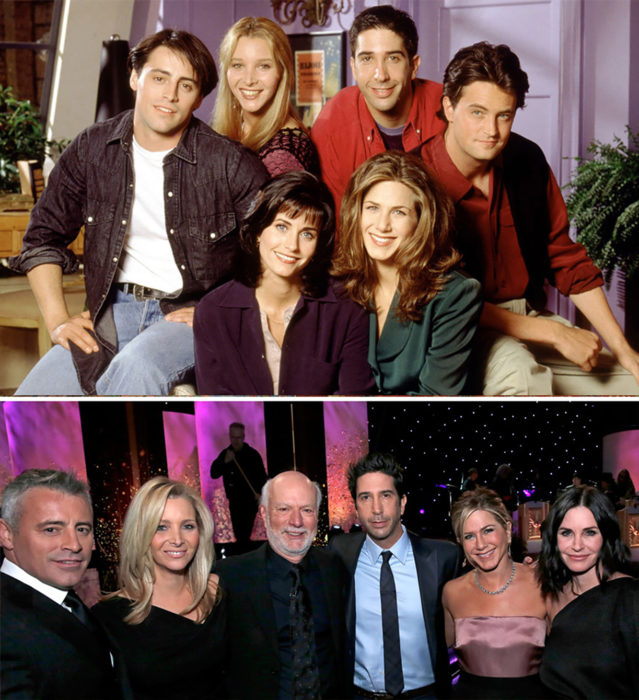 actores de friends 1994 vs 2016