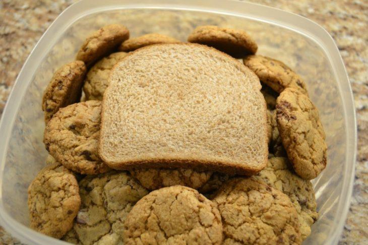 pan sobre galletas