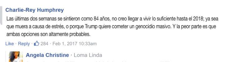 comentario sobre genocidio de donald trump
