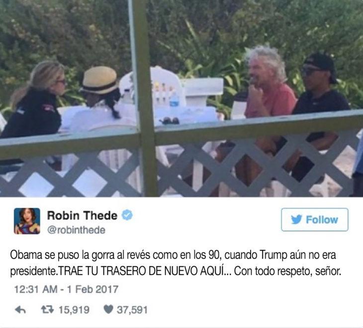 mujer pide a obama que traiga su trasero