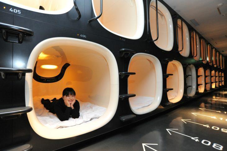 hotel cápsula en japón