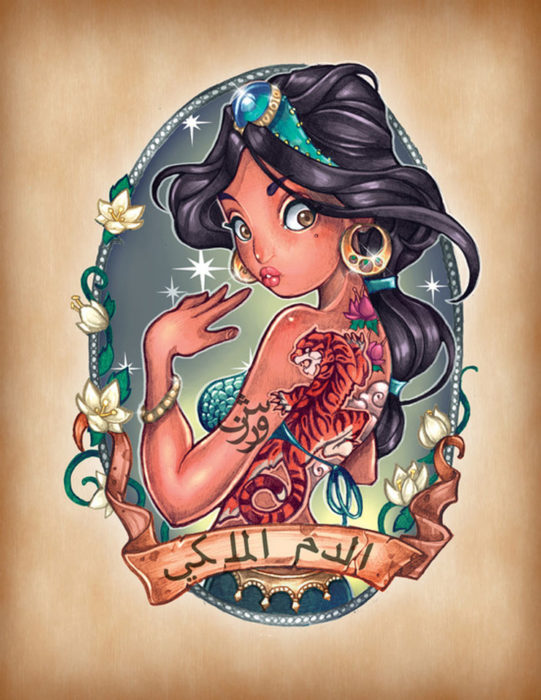 princesa jasmine de aladdin pin up