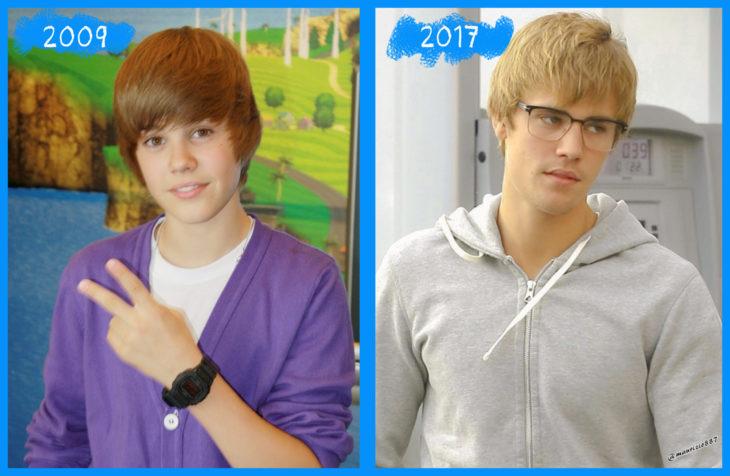 justin bieber antes y después