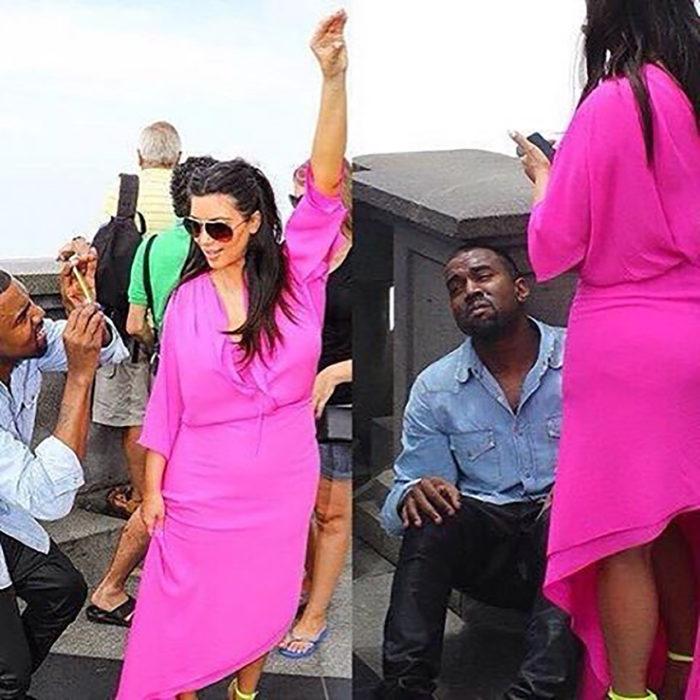 kanye west tomando fotos a kim kardashian