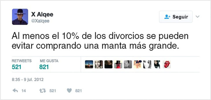 tuit gracioso sobre divorcio