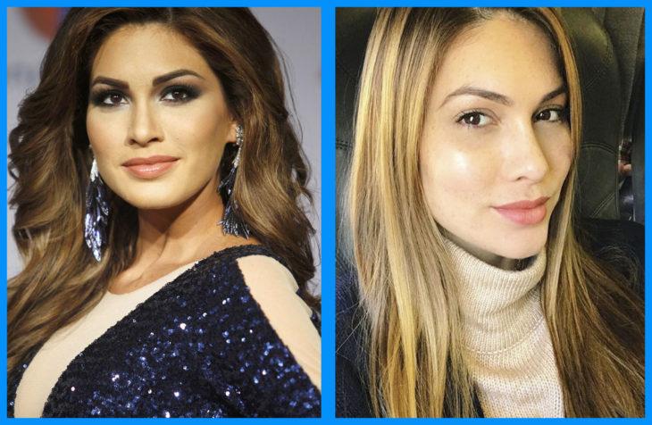Maria Gabriela Isler con y sin maquillaje