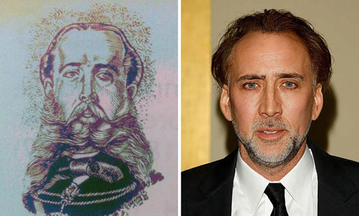 Maximiliano de Hasburgo y Nicolas Cage