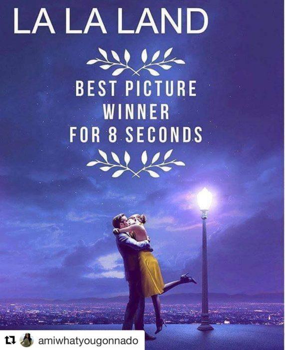 la la land mejor película por 8 segundos