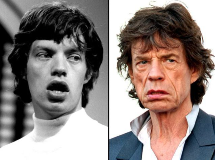 Mick Jagger antes y después