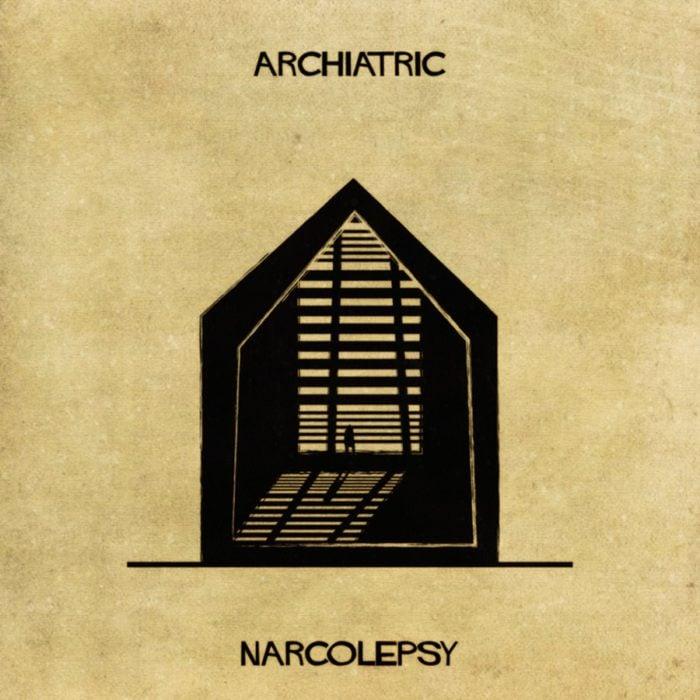 narcolepsia representada como una casa