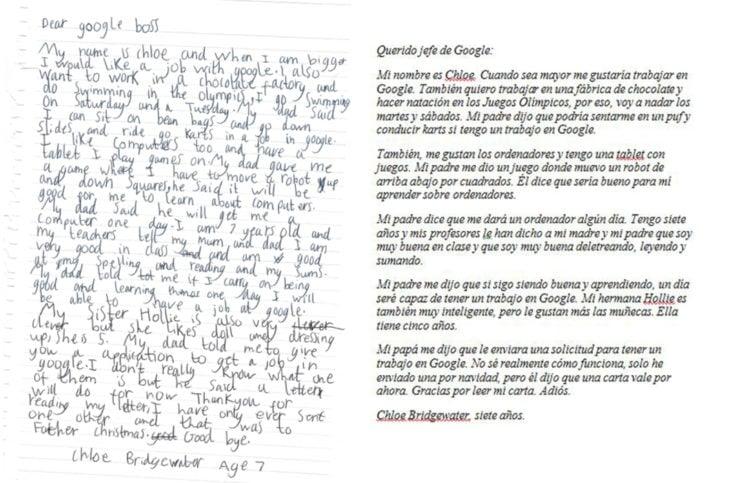 niña carta google carta