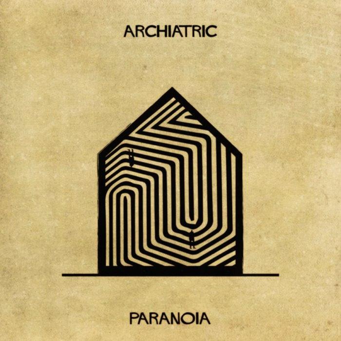 paranoia representada como una casa