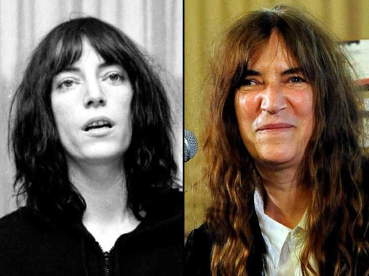 antes y después de Patti Smith