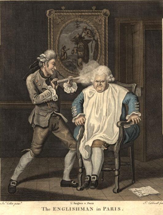 ilustración de un peluquero antiguo