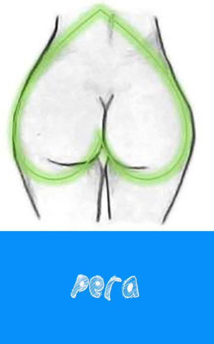 glúteos en forma de pera