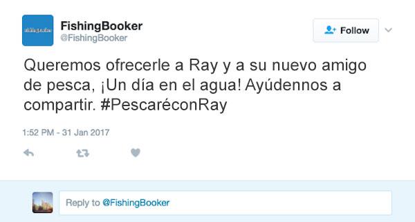 queremos regalarle un equipo de pesca a Ray