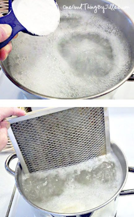 filtro horno bicarbonato limpiar