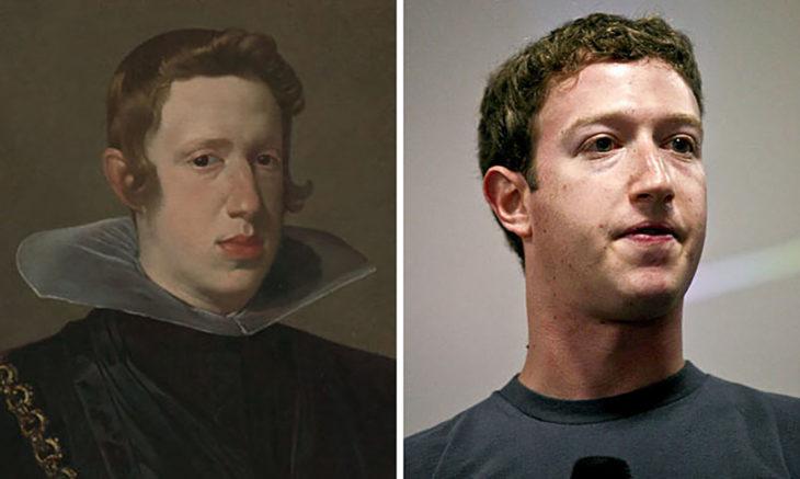 Rey de España Felipe IV y Mark Zuckerberg