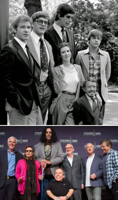 actores de star wars 1980 vs 2013
