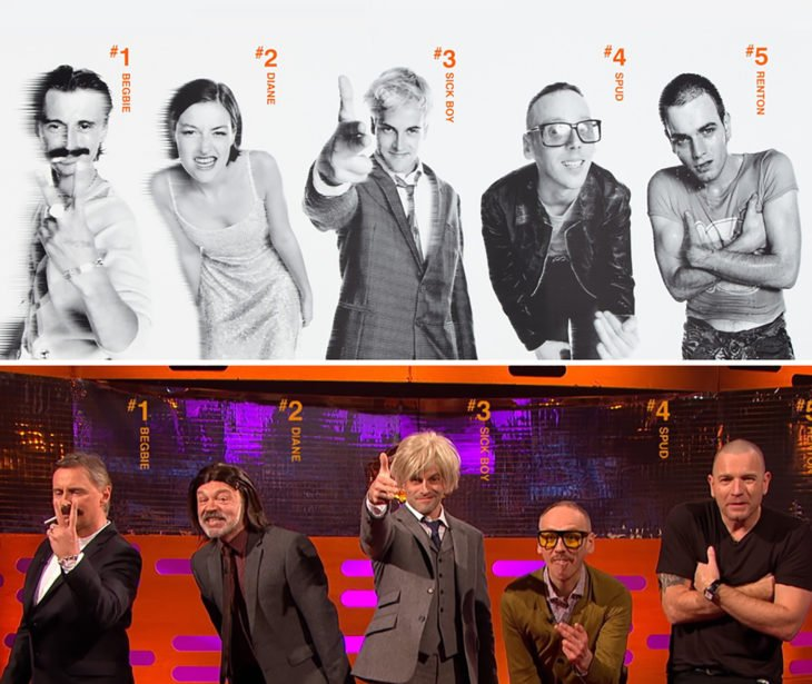 actores de Trainspotting - 1996 vs 2017