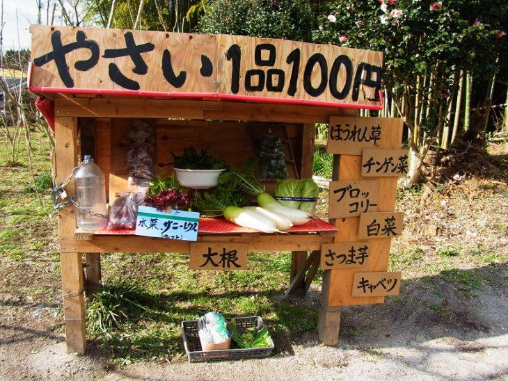 estante de verduras japonés