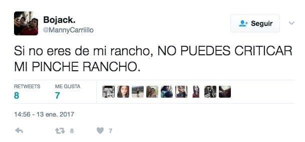 mi rancho tuit