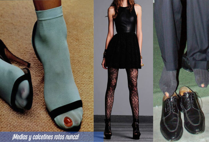 7 prendas no fashionistas calcetines rotos