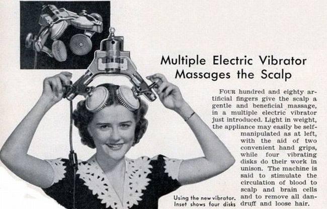 masajeador de cuero cabelludo vintage objetos bizarros
