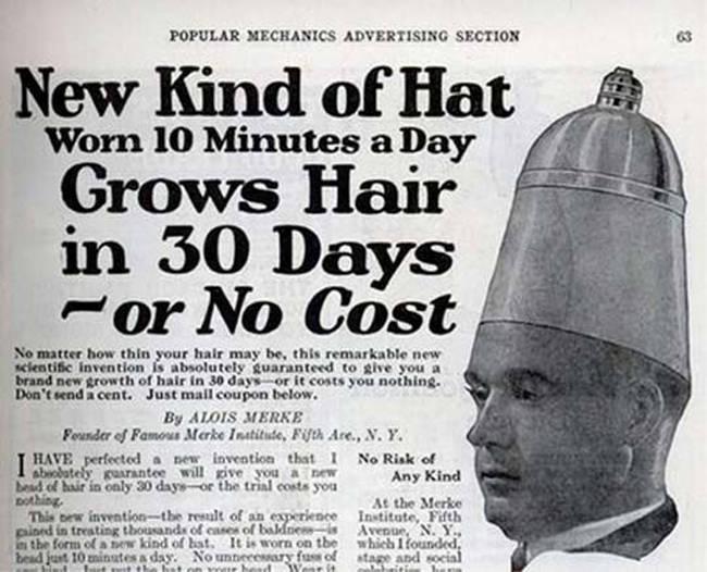 casco para el crecimiento del cabello vintage objetos bizarros