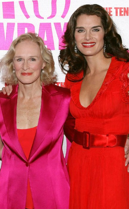 Brooke Shields y Glen Close