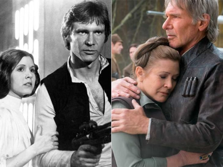 Carrie Fisher y Harrison Ford