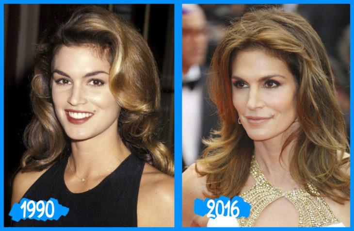 Cindy Crawford antes e depois