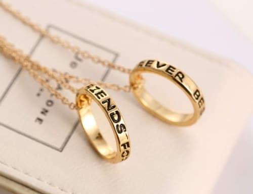 anillos collares Mejores amigas