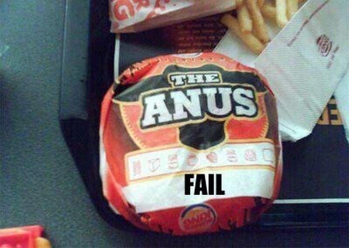 hamburguesa anus