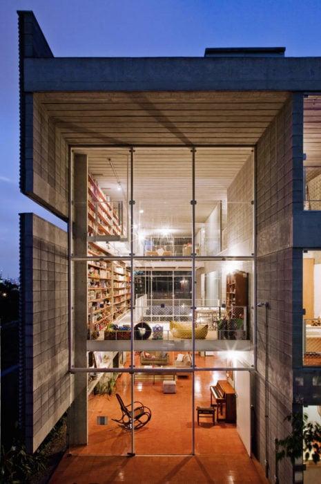 biblioteca de cristal