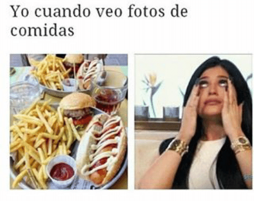 dieta y veo comida tristeza