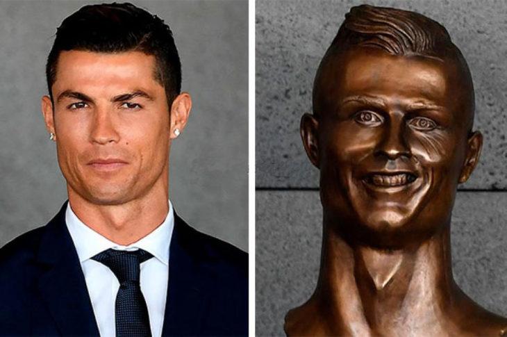 estatua cristian ronaldo