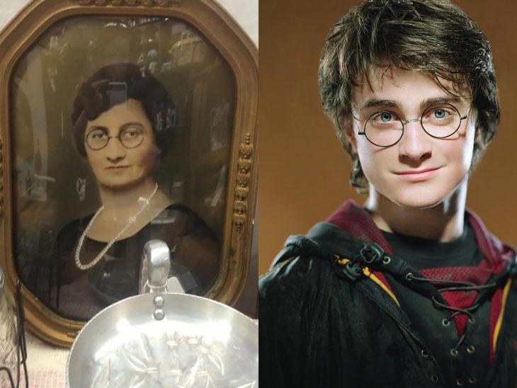 harry potter y mujer que se parece a él