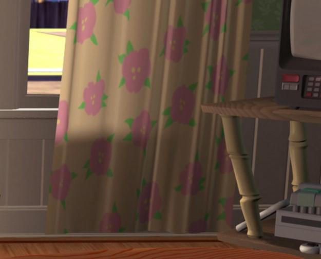 cortina habitación de andy flores