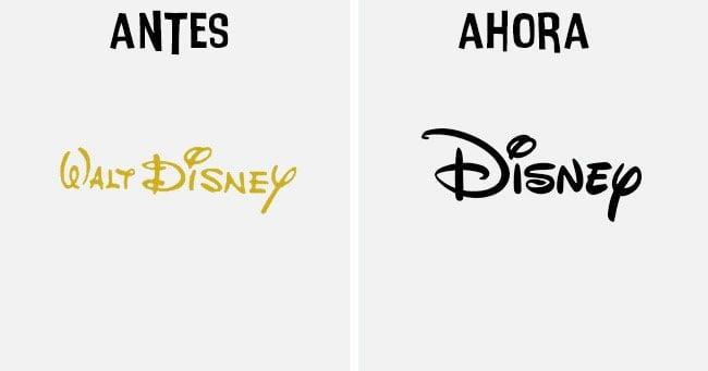 disney Cómo han cambiado los logotipos más famosos antes y después