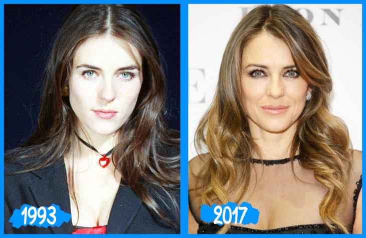 Elizabeth Hurley antes y después