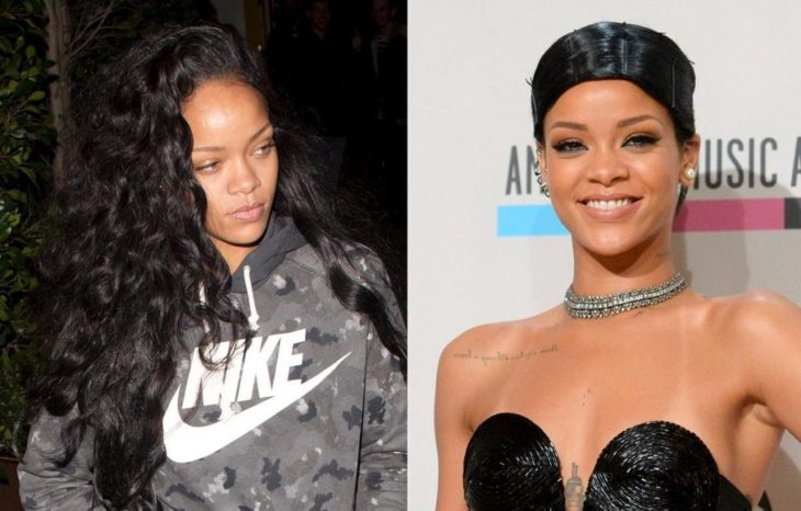 Rihanna sin maquillaje