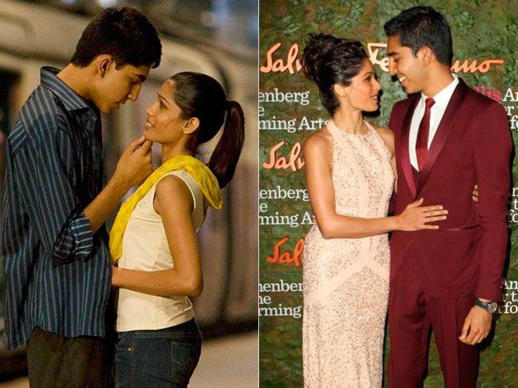 Freida Pinto y Dev Patel antes y después