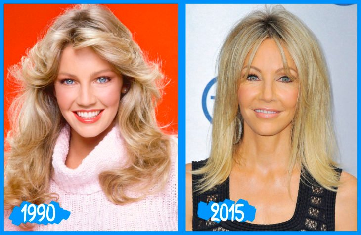 Heather locklear antes e depois