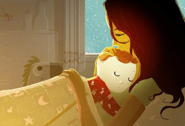 niño dormido ilustración felicidad