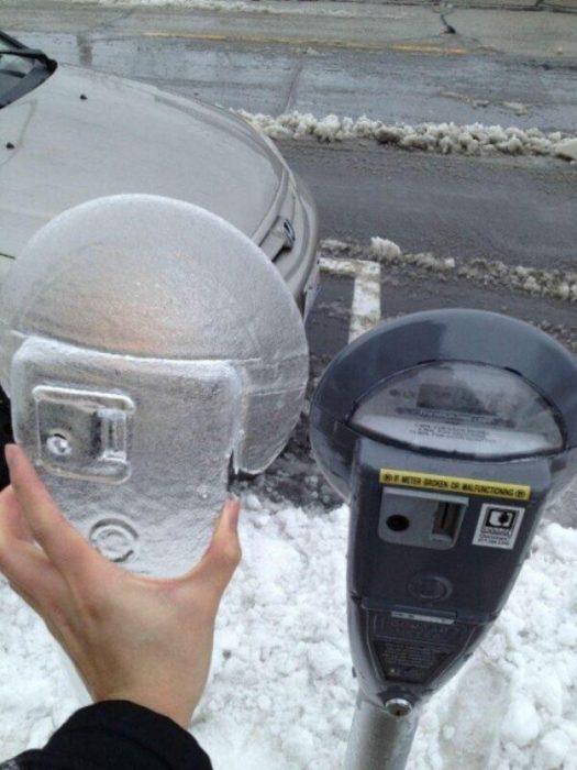 parquimetro congelado