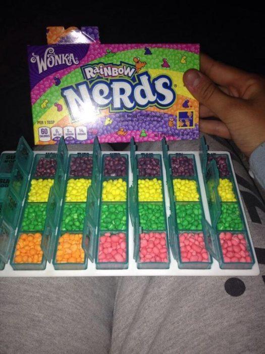nerds por colores