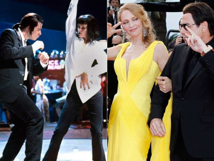 Jhon Travolta y Uma Thurman